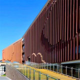 背景牆隔斷鋁格柵圖形 牆身隔斷仿木紋鋁格柵背景牆