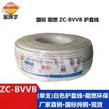 金环宇电线ZC-BVVB2x0.5白色单支平行线
