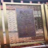 红古拉丝铝隔断 铝合金浮雕铝隔断 欢迎定制