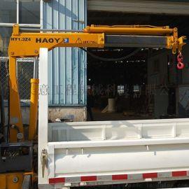 小货车改装液压吊机 车载小吊机