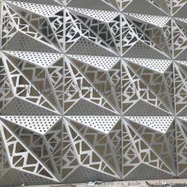 公司门头招牌装饰金属异形铝单板氟碳雕花铝单板