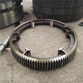 164齿22模数Φ2.4米烘干机大齿圈滚圈托辊生产公司