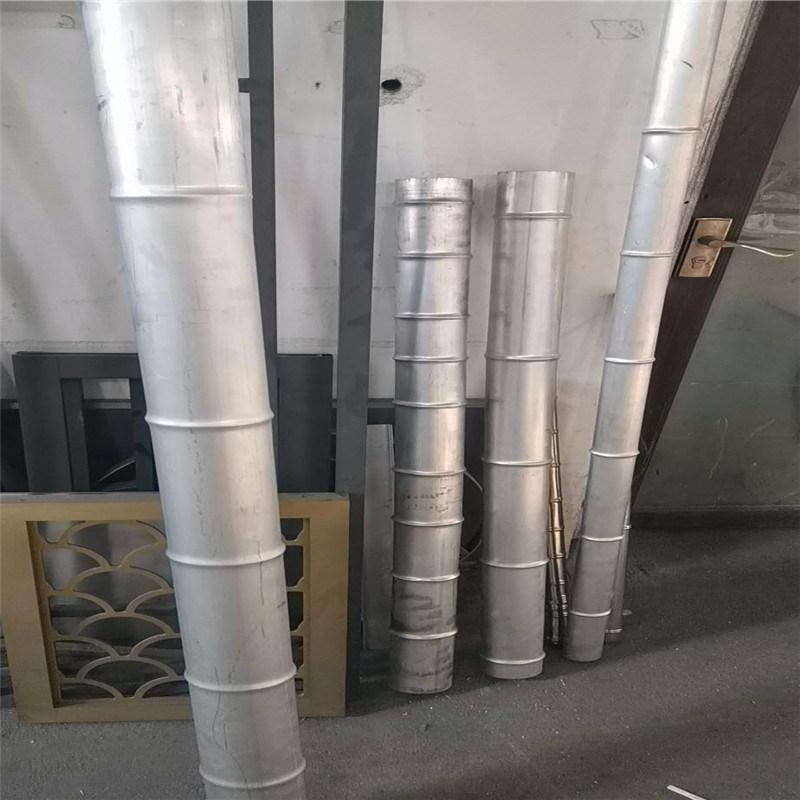 绿色铝金属竹管规格 600间距铝合金竹管