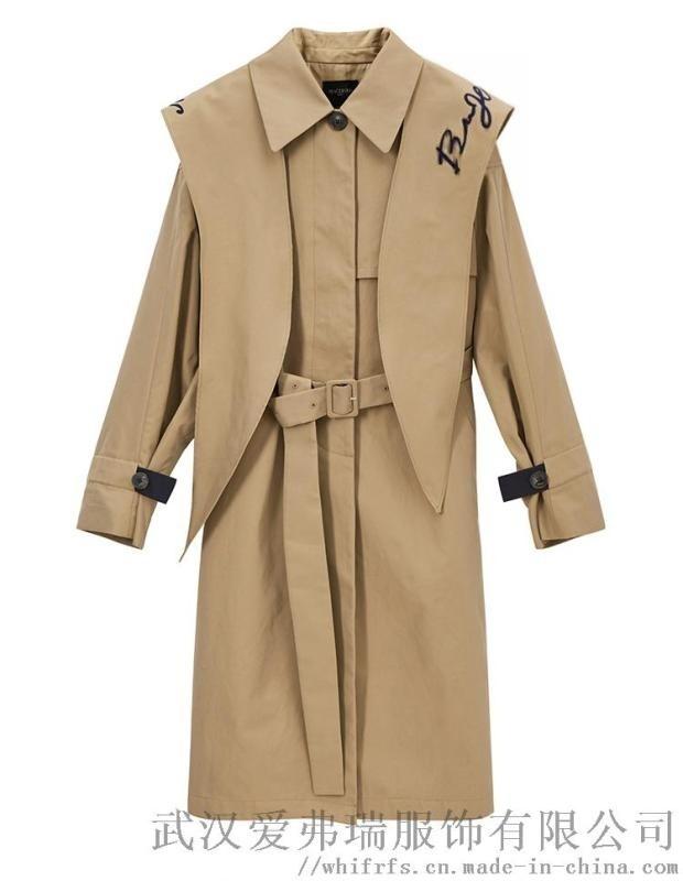 女装店衣服货源伊庄可人20年冬装新款女式风衣外套
