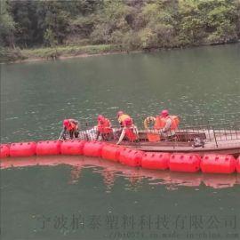 圆柱塑料pe定位拦漂拦污索浮筒