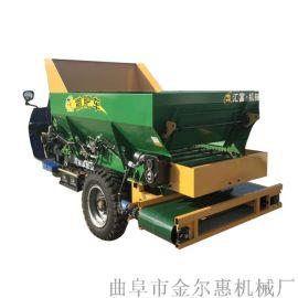 三轮湿鸡粪撒粪车 湿粪干肥都适用撒粪机