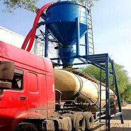 大型吸送式装灰机氧化铝粉倒仓装罐车吸送机气力装车机