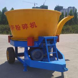新型大型草捆粉碎机 圆盘式玉米秸秆粉碎破碎机视频
