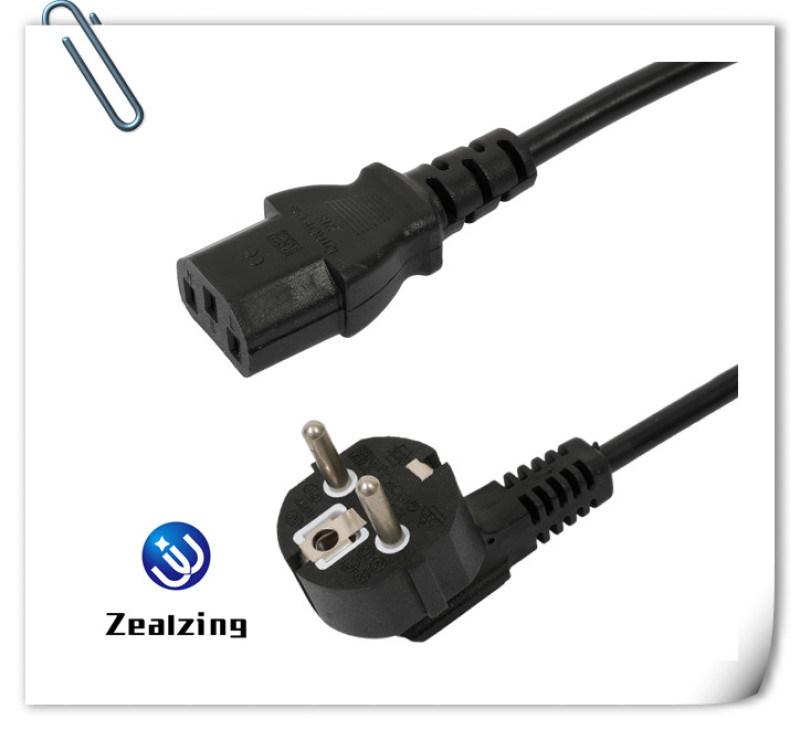 欧规电源线VDE认证16A250V德国烟斗插头