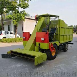 小型多功能清粪车 四轮自走式柴油铲粪车
