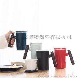 陶瓷办公杯个人杯带茶漏家用喝水杯商务礼品杯定制