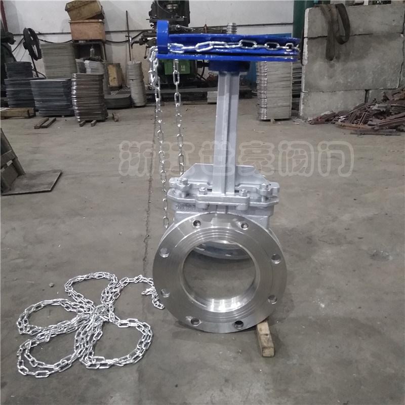 上海刀闸阀 带链条刀型闸阀 DN150