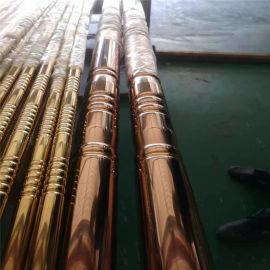 美术馆仿木纹竹管 美食城复古竹节铝圆管