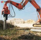 沉钢管桩机 挖机装的液压锤水泥桩打桩机