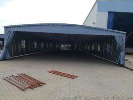 人气雨棚活动折叠防雨伸缩棚仓库移动棚