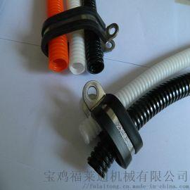 赣州生产R型套胶皮波纹管管夹 Φ25固定夹