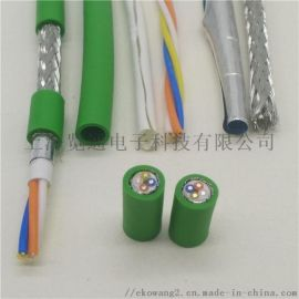 四芯綠色工業profinet工業以太網專用電纜