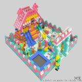 室內淘氣堡廠家定做大型遊樂場EPP積木城堡兒童樂園