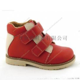 廣州真皮學生皮鞋,功能兒童鞋,八字腳矯正鞋,反楦鞋