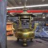 铸造宗祠圆形六龙柱香炉厂家,铸铁长方形香炉工艺厂