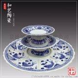 圆形1米大盘家用创意分块定制景德镇陶瓷大盘生产