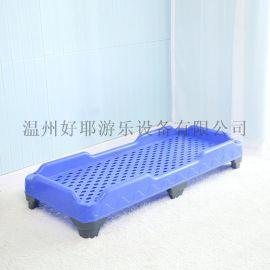 儿童午休床幼儿园塑料床整体注塑床午睡早教床