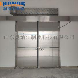 双扇电动冷库平移门-优质冷库门厂家山东奥纳尔