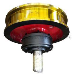 800*160起重机车轮组 双轮缘主动轮组 铸钢轮