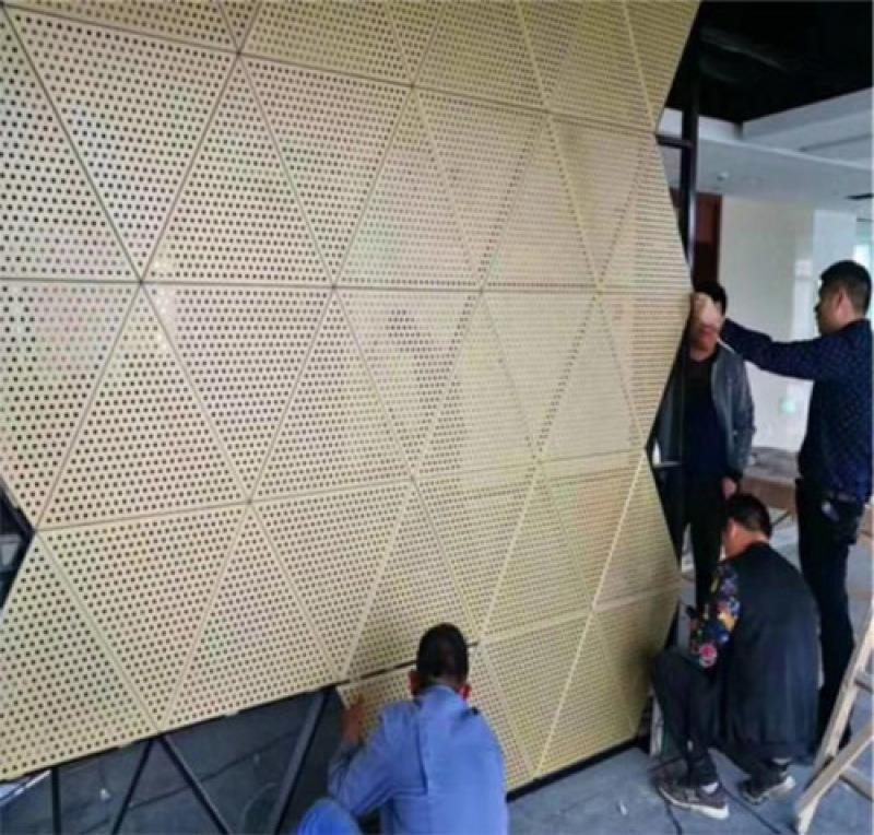 穿孔铝单板 铝板字体镂空 艺术雕刻铝板