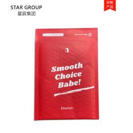 满版红色牛皮纸复合气泡袋 防水信封袋 印刷不露白