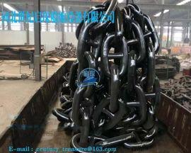 广州锚链厂现货供应73mm船用锚链,带证书锚链