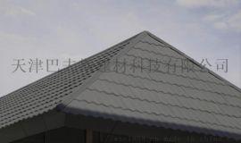 张家口屋面彩石金属瓦厂家平改坡瓦红色七波瓦轻质瓦