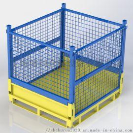 可折叠金属网箱零部件存储配送金属笼