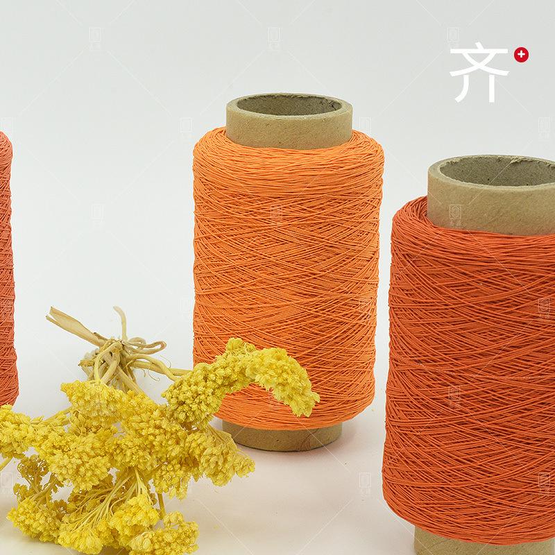 【志源】厂家批发服装辅料弹力超强52号有色涤纶橡筋线 橡根线
