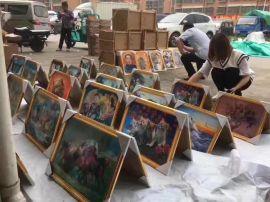 地摊展会热销魔术画新奇魔幻炫彩挂图壁画价格