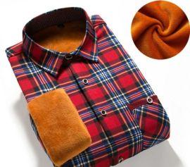 男士秋冬加绒加厚保暖衬衣39元一件模式跑江湖地摊货源