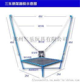 桂林单人儿童钢架蹦极的使用方法