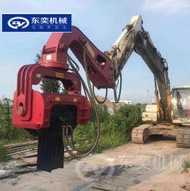挖机液压振动锤 12米工字钢钢板桩打桩机