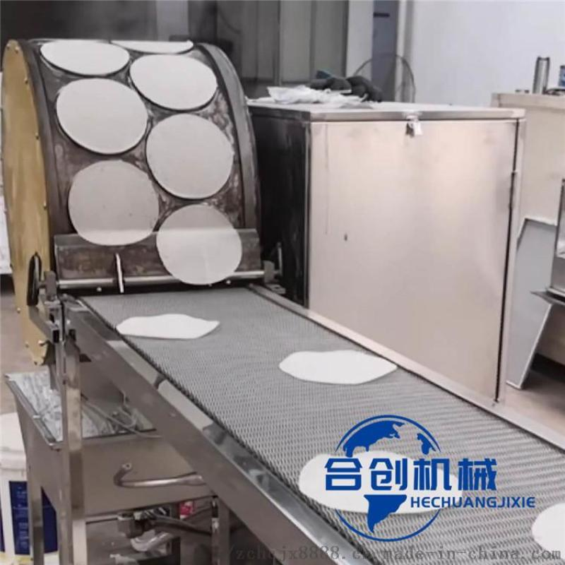 圆形烤鸭饼机,京酱肉丝卷饼机,全自动烤鸭机多少钱