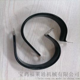 沈阳供应R型浸塑管夹 FLT-R20全包胶管夹
