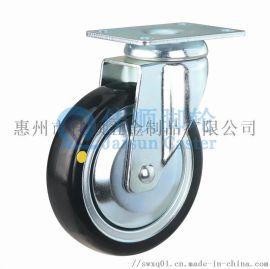 4寸5寸钢芯橡胶导电轮,钢芯橡胶防静电轮