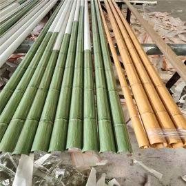 博物馆铝合金隔断竹管 文化馆型材竹纹铝圆管