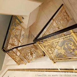 关欧式纯铜楼梯栏杆随意洒脱的美