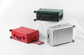 厂家生产直销ABS+PC铝框拉杆行李箱定制上海方振