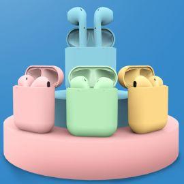 新款馬卡龍耳機TWS i12藍牙耳機 立體音藍牙