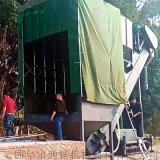 火車站集裝箱粉煤灰中轉設備 翻箱卸灰機 碼頭拆箱機