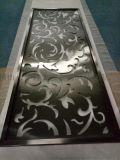 别墅入门玄关玫瑰金铝雕镂空花格 精美装饰品