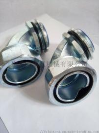45度锌合金软管接头 软管接头 金属软管接头