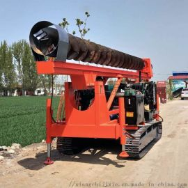 翔驰打桩机 10米长螺旋打桩机 基础打桩机