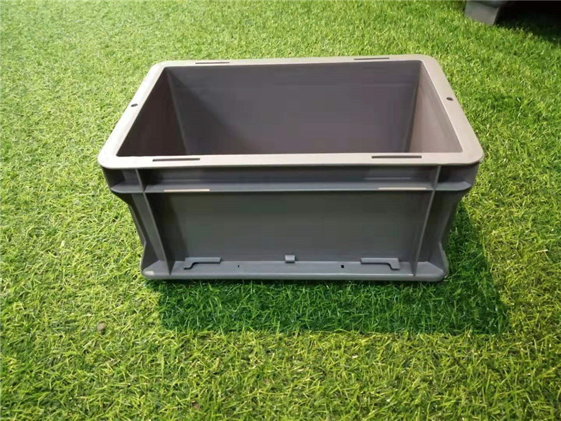 呼倫貝爾【EU物流箱】灰色塑料箱歐式標準箱廠家
